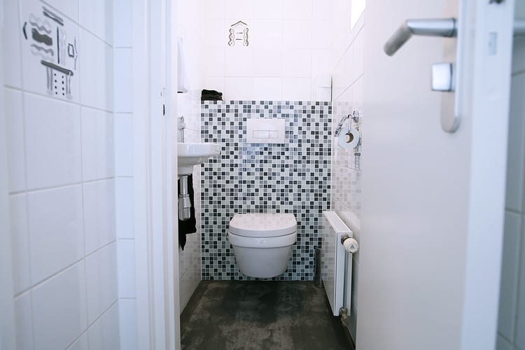 Nieuwe toileten na renovatie